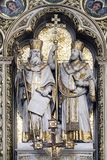Altar de St Cyril y Methodius en la catedral de Zagreb fotografía de archivo