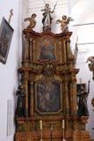 Altar de St Francis de Assisi en la iglesia de St Leonard de Noblac en Kotari, Croacia Foto de archivo