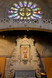 Altar de uma igreja crist? foto de stock