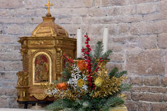 Altar decorated for celebration Royalty Free Stock Photography