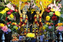 Altar - Deity Hare Krishna Royalty Free Stock Photography