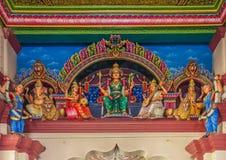 Altar del templo hindú de Sri Mariamman Imagen de archivo libre de regalías