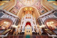 Altar dentro da catedral de Christ o salvador foto de stock