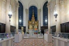 Altar dentro de Saint John Divine Church NYC imagem de stock