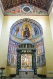 Altar der alten Basilikakirche von San Saba in Rom Stockfoto