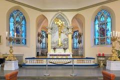 Altar der deutschen Christinae-Kirche in Gothenburg, Schweden Stockfotos