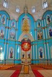 Altar der Dreiheits-Kathedrale in der Regelung Gus-Zhelezny, Russland Stockfotografie