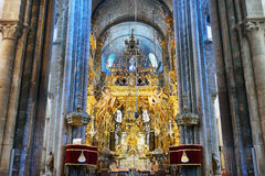 Altar in der Kathedrale von Santiago stockbilder