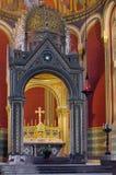 Altar in der Kirche von Heiligen Cyril und Methodius Stockbilder