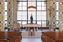 Altar der Krypta des Sao Bento da Porta Aberta Sanctuary Stockfotos