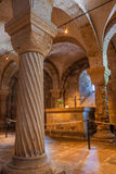 Altar in der Krypta von Lund-Kathedrale lizenzfreies stockfoto