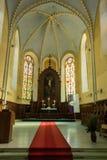 Altar der lutherischen Kirche Stockfotos
