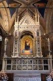 Altar in der Orsanmichele-Kirche in Florenz Stockbild