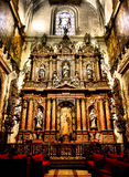 Altar der Sevilla-Kathedrale Lizenzfreie Stockfotos