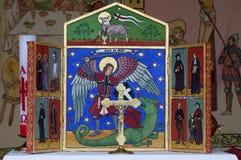 Altar, der St- Georgereligionsgegenstände malt Lizenzfreie Stockfotos