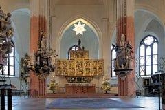 Altar der Vasteras Kathedrale Lizenzfreies Stockbild