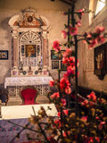 Altar der votive Kirche von Heiliger Maria des Alzana, berühmtes f Stockfoto