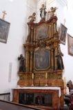 Altar des Heiligen Franziskus von Assisi in der Kirche von St Leonard von Noblac in Kotari, Kroatien Lizenzfreies Stockbild