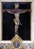 Altar des heiligen Kreuzes, Franziskanerkirche der Mönche gering in Dubrovnik Lizenzfreie Stockfotografie