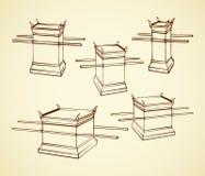 altar Desenho do vetor ilustração stock