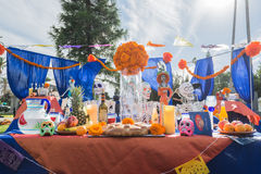 Altar on display at the 15th annual Day of the Dead Festival stock photo