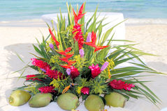 Altar do casamento de praia Imagens de Stock