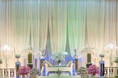 Altar do casamento em uma fase imagens de stock