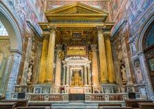 Altar do sacramento abençoado, na basílica de Saint John Lateran em Roma fotografia de stock royalty free