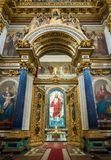 Altar doors of St Isaac`s Cathedral Russia Royalty Free Stock Photo