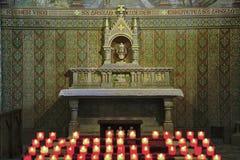 Altar dourado fotografia de stock