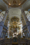 Altar of the Dresden Frauenkirche (Church of Our Lady). Royalty Free Stock Photo