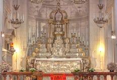 Altar Duomo, Cefalu, Sicily, Italy stock image