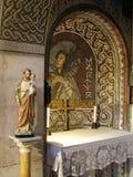 Altar einer Kirche Stockbild