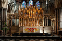 Altar, Ely Cathedral Stock Images