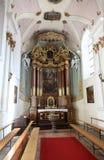 Altar en la basílica de St Vitus en Ellwangen, Alemania Fotografía de archivo