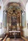 Altar en la basílica de St Vitus en Ellwangen, Alemania Fotos de archivo libres de regalías
