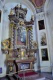Altar en la catedral de Praga imagen de archivo libre de regalías