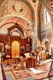 Altar en la iglesia ortodoxa rusa fotografía de archivo