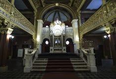 Altar en sinagoga foto de archivo libre de regalías
