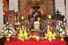 Altar en Wat Arun, Bangkok Tailandia Foto de archivo libre de regalías
