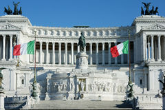 Altar Fatherland Altare Patria Italy Monument Flags Royalty Free Stock Photography