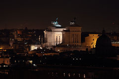 Altar of the Fatherland at night in Rome Royalty Free Stock Photo