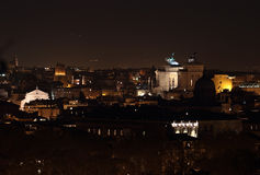 Altar of the Fatherland at night in Rome Stock Photography