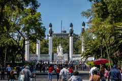 Altar of the Fatherland with Ninos Heroes Monument at Chaputelpec Park - Mexico City, Mexico Royalty Free Stock Photography