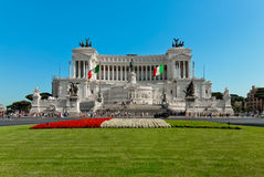 Altar of the Fatherland in Rome by day Royalty Free Stock Photo