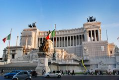 Altar of the Fatherland in Rome, Italy Stock Images