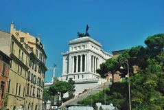 Altar of the Fatherland in Rome, Italy Royalty Free Stock Images