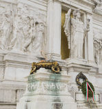 Altar of the Fatherland (Vittoriano). Burning brazier at the Tomb of the Unknown Soldier at the Altar of the Fatherland in Rome Stock Image