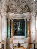 Altar of Fatima. The altar and vault of the old Basilica of Our Lady of Fatima in Portugal Stock Photography