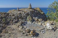 Altar feito a si próprio de deidades hindu Foto de Stock